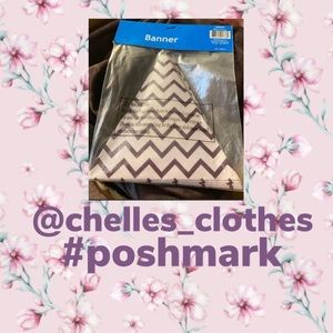 Purple Chevron Banner - NWT